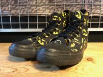 converse ALL STAR BATMAN HI (ブラック/イエロー) USED