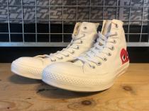 converse × PLAY COMME des GARCONS ALL STAR HI / PCDG (ホワイト) USED
