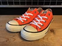 converse ALL STAR OX (ネオンオレンジ) USED