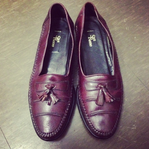Leather  tassel loafer写真