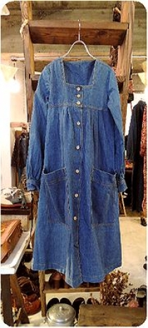 Denim Smock Dress, Tuck & Gather Pants ♪