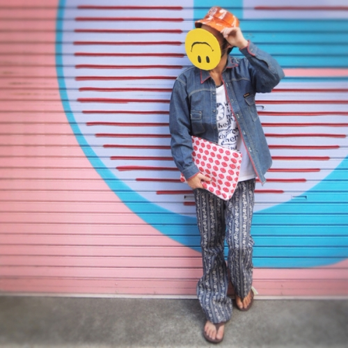 Styling a smiley mask 10,09写真
