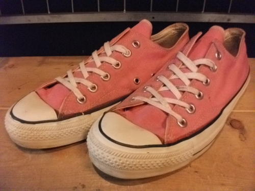 converse ALL STAR OX (ピンク) USED写真