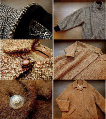Vintage Wool Coat, Sweater, Short Boots ♪