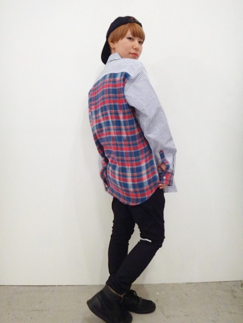 wonderland Stripe&Check shirts 写真