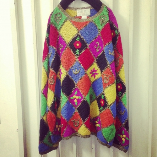 ◇◆colorful patch-work L/S knit.写真