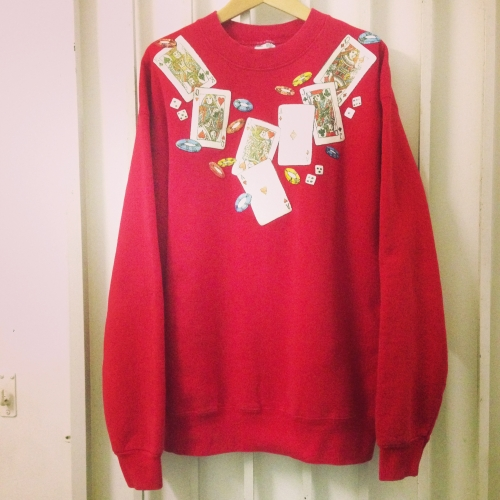 Casino motif print L/S sweat. 写真