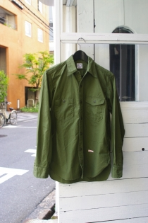 KAPTAIN SUNSHINE(キャプテンサンシャイン) NAVY 3STICH SHIRT