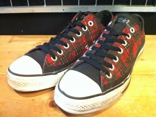 converse ALL STAR REBEL OX (レッド) USED写真