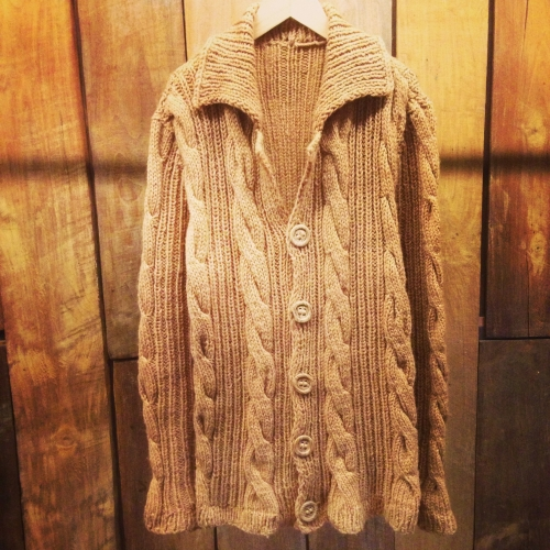 From france  Cable knit cardigan 写真