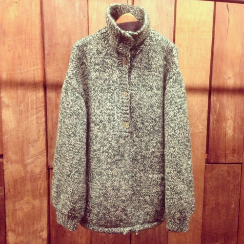 Hand-made L/S pull-over mix knit.写真