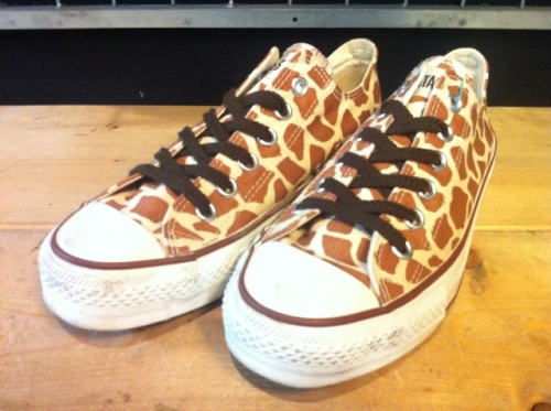 converse ALL STAR NIGHT-GIRAFFE OX (ブラウン) USED写真