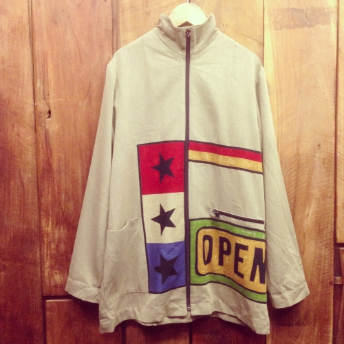 "Men's ""★★★×OPEN""design patchwork Zip-up jacket. 写真"