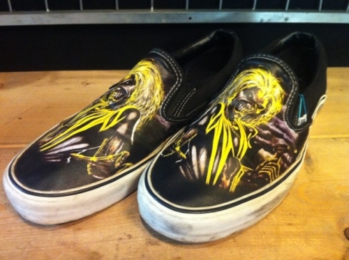 VANS SLIP-ON IRON MAIDEN (ブラック/イエロー) USED写真