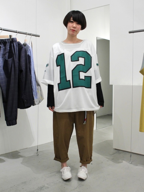 JieDa FOOTBALL MESH TEE WHT写真