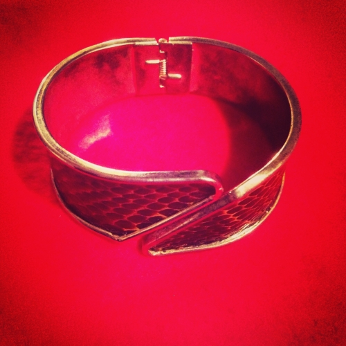 Python pattern Design bangle. 写真