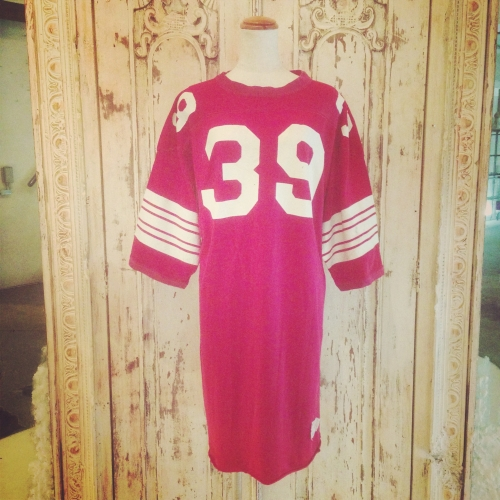 Ladies Vintage Long football shirt. 写真