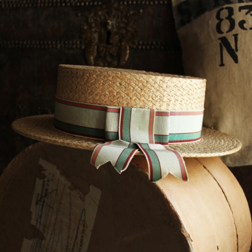 1940's Straw Boater Hat from England写真