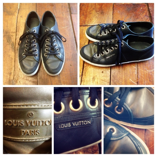 Men's 『LOUIS VUITTON』 Leather sneaker.写真