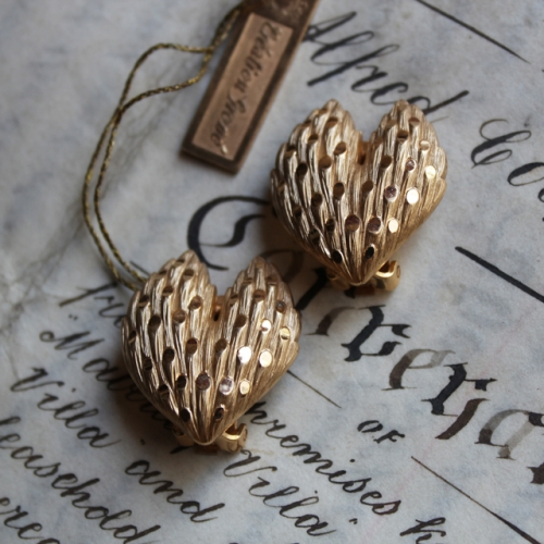 """Grosse"" Vintage Heart Shape Earring (gold)写真"