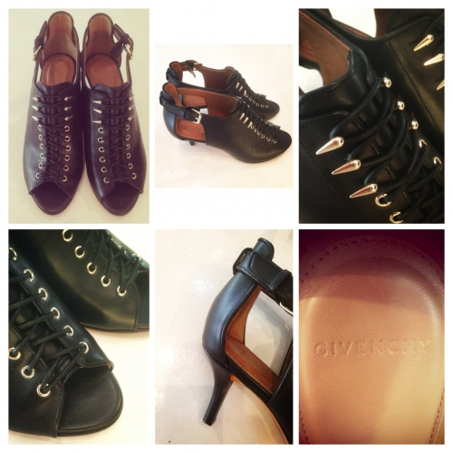 Ladies 『GIVENCHY』 Leather laceup heel design shoes.写真