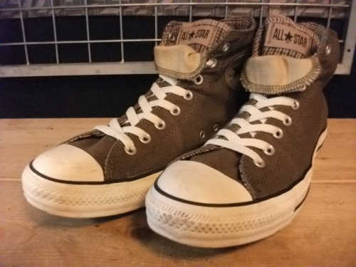 converse ALL STAR DOUBLE TONGUE HI (カーキ) USED写真