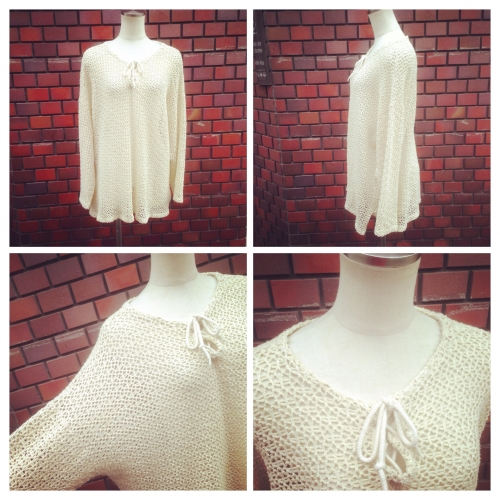 Low-gauge Design summer knit.写真