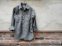 WAREHOUSE TRIPLE STITCH WORK SHIRTS BLACK