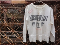 VINTAGE FRONT V SET IN SWEAT『MYRTLE BEACH』