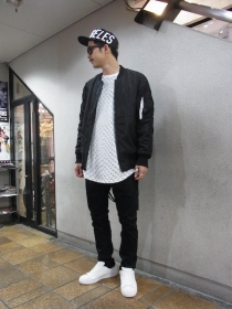 STAMPD LA Black Strapped Bomber Jacket ¥53,500