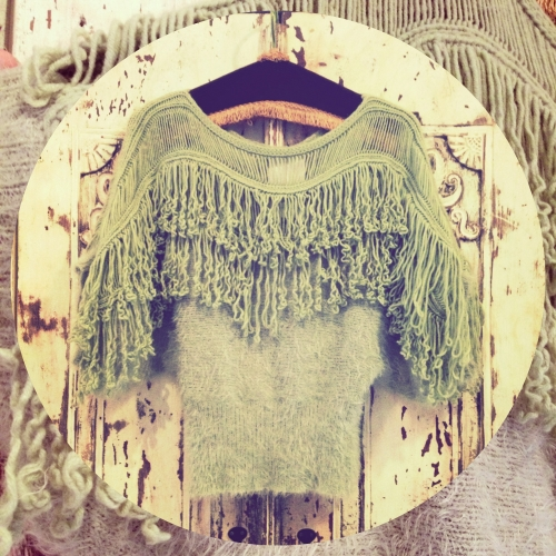 lady's Fringe knit 写真