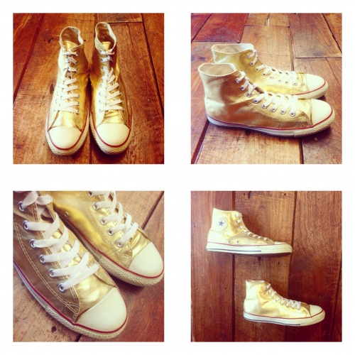 Men's CONVERSE ALLSTAR Hi-cut gold. MADE IN USA写真