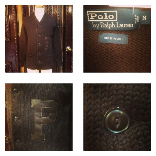 Men's ''POLO by Ralph Lauren'' Lettered cardigan. 写真