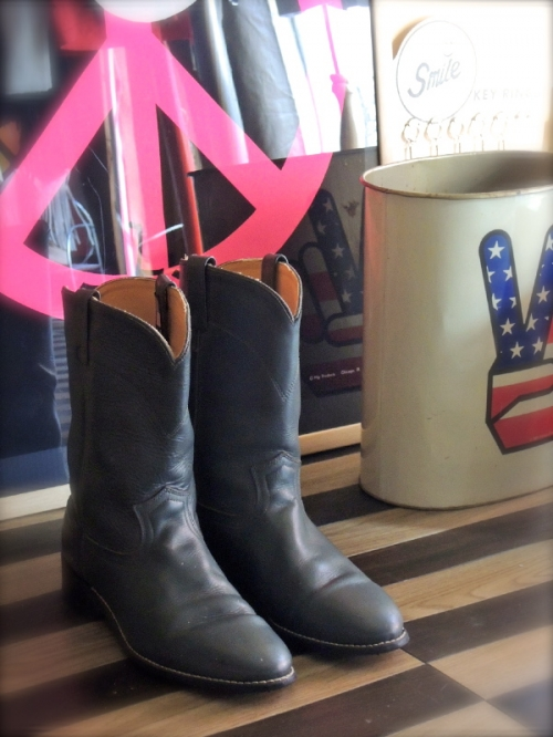 70's~ green-leather pecos boots写真