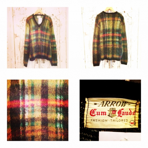 "Men's Vintage""ARROW"" Mohair L/S knit. 写真"