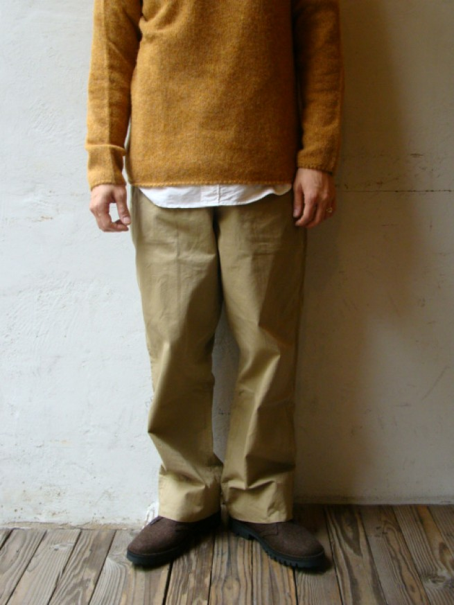 "|【anachronorm アナクロノーム】Chino Cloth Wide Work Trousers ""BEIGE""写真"