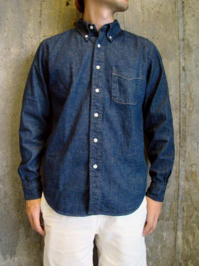 "|【or Slow オアスロー】BOTTON DOWN SHIRTS ""DENIM""写真"