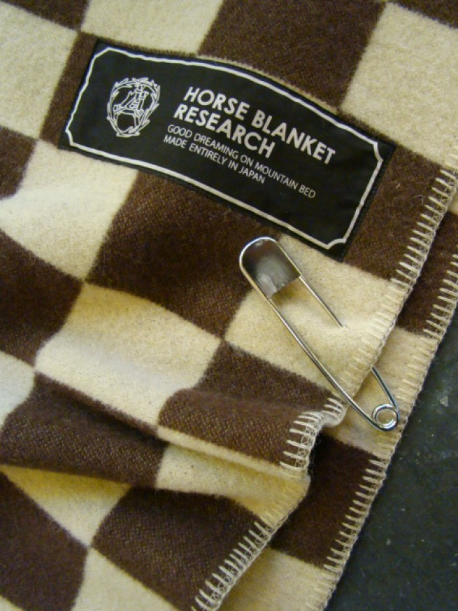 "|【Horse Blanket Research ホースブランケットリサーチ】 ""Checker""(beige/brown)写真"