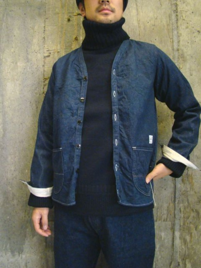|【ANACHRONORMアナクロノーム】 NEP DENIM SHIRTS CARDIGAN (ANC-167)写真